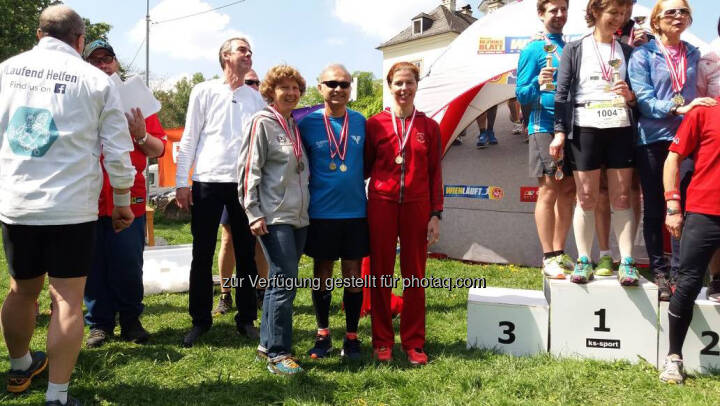 Safet Hasanoski, Siegerehrung Praterblüten-Lauf
