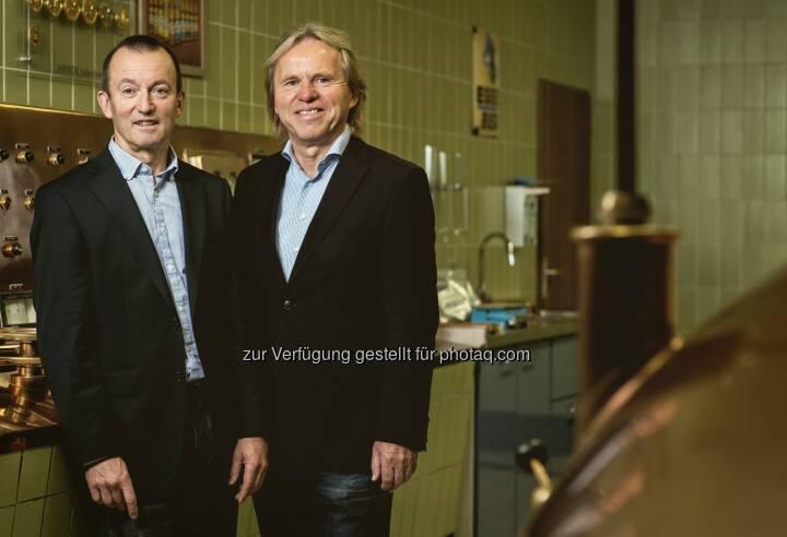 Freude über Gewinn der Goldmedaille bei den Geschäftsführern - Simma, Kohler GesmbH & Co KG: Goldmedaille für Egger Spezial Bier bei der internationalen Monde Selection (Fotocredit: www.markusgmeiner.com/Markus Gmeiner)