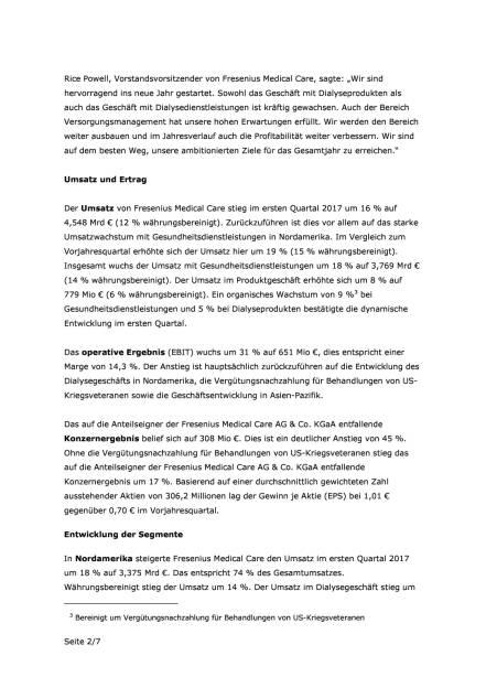 FMC: Zahlen Q1/2017, Seite 2/7, komplettes Dokument unter http://boerse-social.com/static/uploads/file_2232_fmc_zahlen_q12017.pdf (03.05.2017)