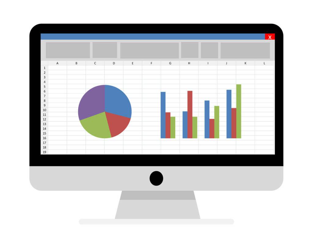 Umfrage, Chart, Statistik, Auswertung, Balken, Buchhaltung, Konto, Depot (Bild: Pixabay/Tumisu https://pixabay.com/de/buchhaltung-statistik-excel-1928237/ )    (04.05.2017)