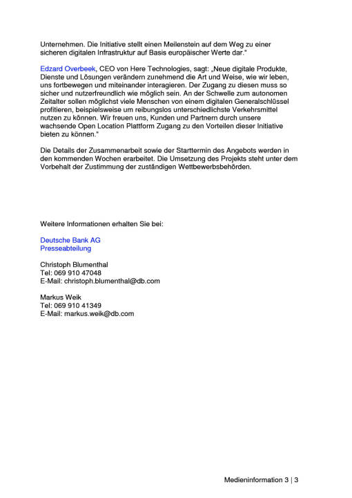 Allianz, Axel Springer, Daimler, Deutsche Bank mit Postbank sowie Core und Here planen gemeinsame Registrierungs-, Identitäts- und Datenplattform, Seite 3/3, komplettes Dokument unter http://boerse-social.com/static/uploads/file_2241_allianz_axel_springer_daimler_deutsche_bank_mit_postbank_sowie_core_und_here_planen_gemeinsame_plattform.pdf