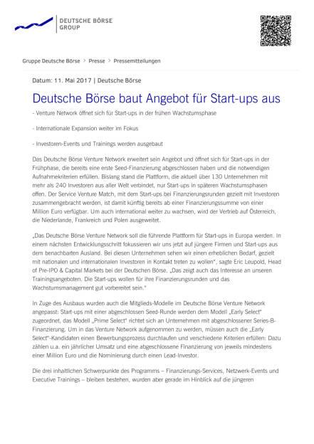 Deutsche Börse baut Angebot für Start-ups aus, Seite 1/2, komplettes Dokument unter http://boerse-social.com/static/uploads/file_2246_deutsche_borse_baut_angebot_fur_start-ups_aus.pdf (11.05.2017)