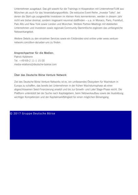 Deutsche Börse baut Angebot für Start-ups aus, Seite 2/2, komplettes Dokument unter http://boerse-social.com/static/uploads/file_2246_deutsche_borse_baut_angebot_fur_start-ups_aus.pdf (11.05.2017)
