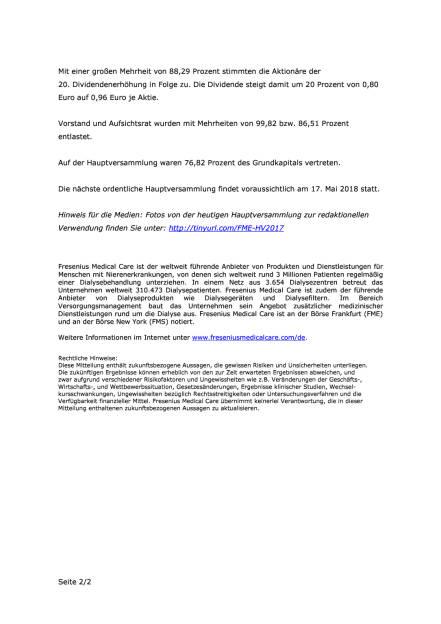 FMC: 20. Dividendenerhöhung in Folge, Seite 2/2, komplettes Dokument unter http://boerse-social.com/static/uploads/file_2248_fmc_20_dividendenerhöhung_in_folge.pdf (11.05.2017)