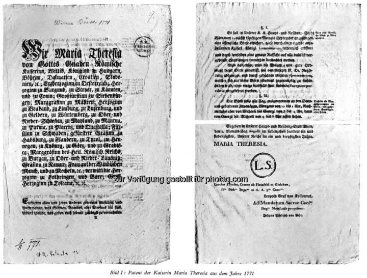 Kaiserliches Patent zur Gründung der Wiener Börse