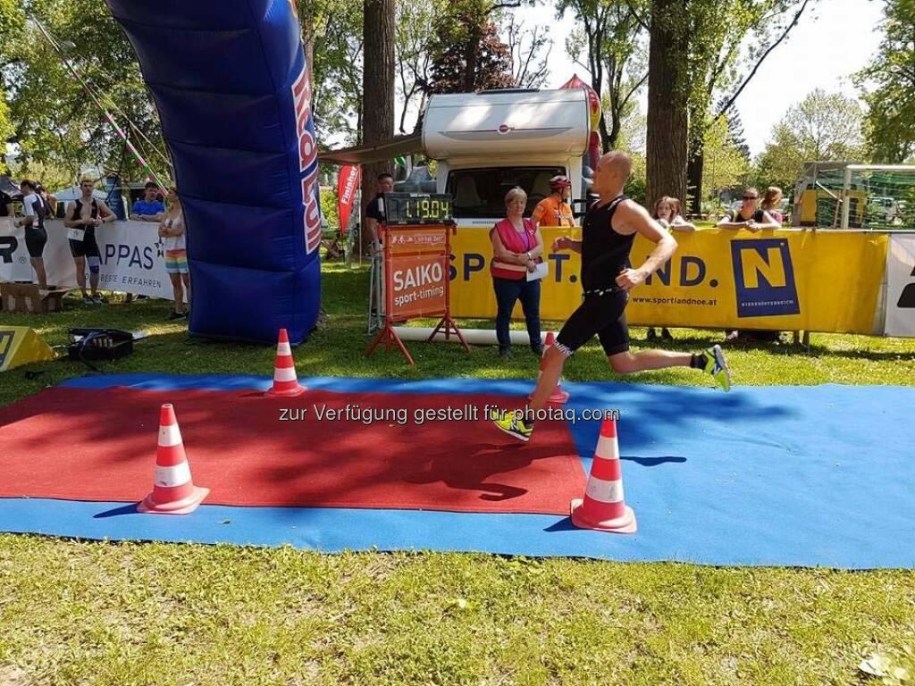 Markus Steinacher beim Klosterneuburger Triathlon (14.05.2017)