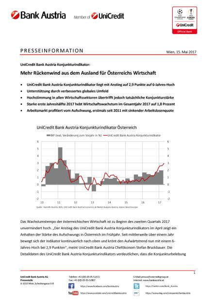 Mehr Rückenwind aus dem Ausland für Österreichs Wirtschaft Wien, 15. Mai 2017, Seite 1/5, komplettes Dokument unter http://boerse-social.com/static/uploads/file_2253_mehr_ruckenwind_aus_dem_ausland_fur_osterreichs_wirtschaft_wien_15_mai_2017.pdf (15.05.2017)