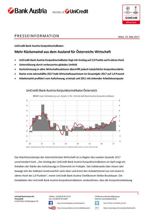 Mehr Rückenwind aus dem Ausland für Österreichs Wirtschaft Wien, 15. Mai 2017, Seite 1/5, komplettes Dokument unter http://boerse-social.com/static/uploads/file_2253_mehr_ruckenwind_aus_dem_ausland_fur_osterreichs_wirtschaft_wien_15_mai_2017.pdf