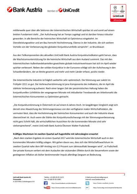 Mehr Rückenwind aus dem Ausland für Österreichs Wirtschaft Wien, 15. Mai 2017, Seite 2/5, komplettes Dokument unter http://boerse-social.com/static/uploads/file_2253_mehr_ruckenwind_aus_dem_ausland_fur_osterreichs_wirtschaft_wien_15_mai_2017.pdf (15.05.2017)