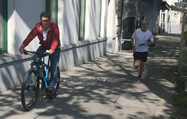 Im Alsergrund gibt es Begegnungszonen für Radler und Läufer, brauchen keine Radwege
