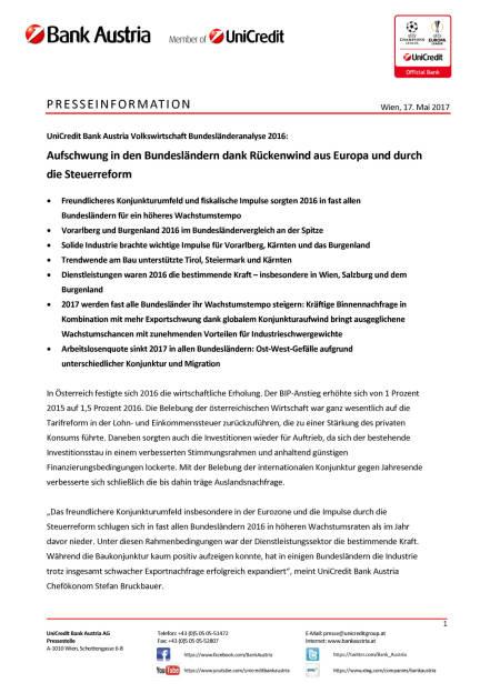 Aufschwung in den Bundesländern dank Rückenwind aus Europa und durch die Steuerreform , Seite 1/6, komplettes Dokument unter http://boerse-social.com/static/uploads/file_2255_aufschwung_in_den_bundeslandern_dank_ruckenwind_aus_europa_und_durch_die_steuerreform.pdf (17.05.2017)