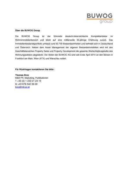 Buwog: Gleichenfeier Projekt Töllergasse T(h)ree, Seite 2/2, komplettes Dokument unter http://boerse-social.com/static/uploads/file_2256_buwog_gleichenfeier_projekt_tollergasse_three.pdf (18.05.2017)