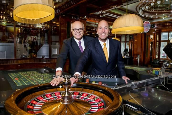 Dr. Karl Stoss und Dr. Alexander Labak - Casinos Austria: Casinos Austria: Alexander Labak zum Vorstand ernannt (Fotograf: Achim Bieniek / Fotocredit: Casinos Austria)