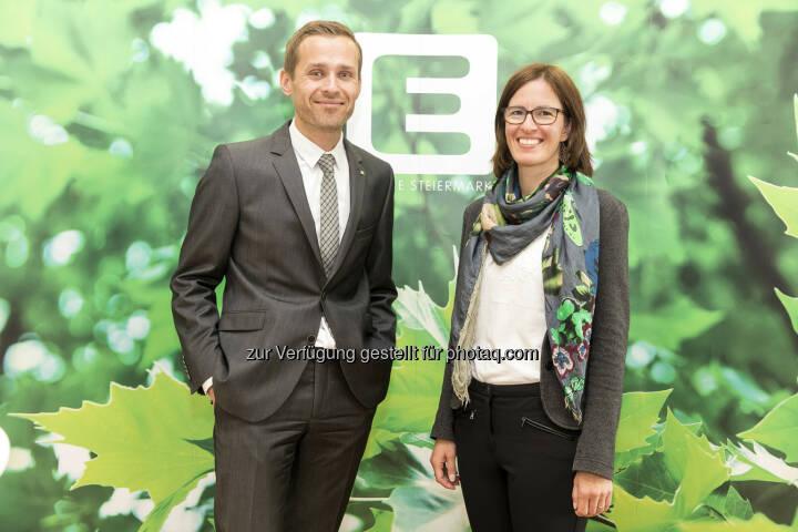 Sandra Maurer und Georg Wurzenberger sind für den Kunden-Dialog der Energie Steiermark verantwortlich - Energie Steiermark AG: Neue Leiterin des Kunden-Service in der Energie Steiermark (Fotograf: Edi Aldrian / Fotocredit: Energie Steiermark)