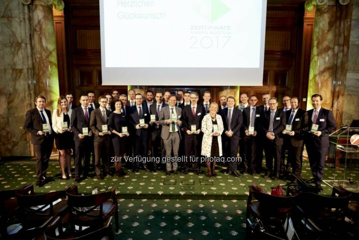 Zertifikate Award Austria 2017 - Alle Preisträger (Fotocredit: Zertifikate Forum Austria)