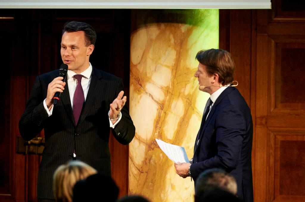 Vorstand Christoph Boschan (Wiener Börse), Lars Brandau (Deutscher Derivate Verband) - Zertifikate Award Austria 2017 (Fotocredit: Zertifikate Forum Austria), © Zertifikate Forum Austria (19.05.2017)