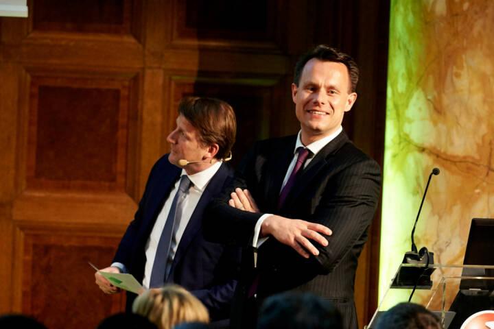 Lars Brandau (Deutscher Derivate Verband), Vorstand Christoph Boschan (Wiener Börse) - Zertifikate Award Austria 2017 (Fotocredit: Zertifikate Forum Austria)