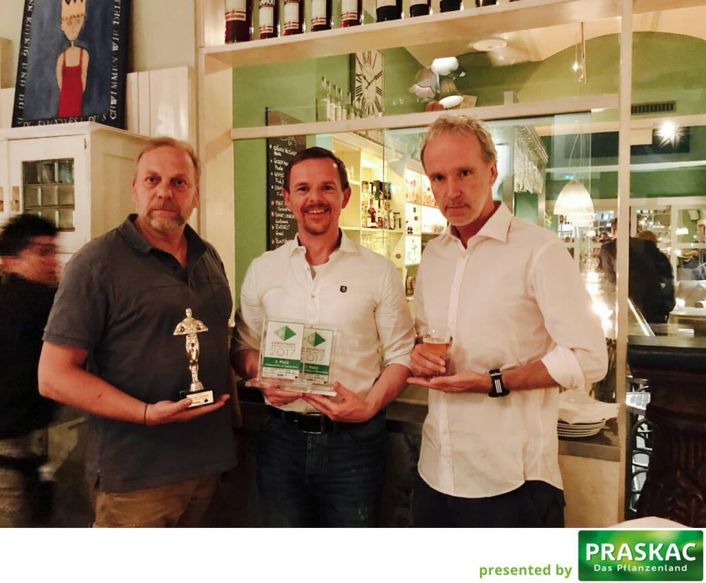 Heinz Karasek mit dem Zerto, Christian-Hendrik Knappe, Christian Drastil (21.05.2017)