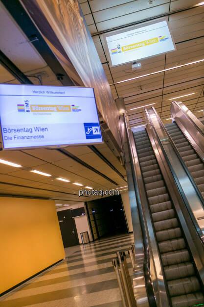 Börsentag Wien, 20.5.2017, Rolltreppen, Austria Center, © Martina Draper photaq.com (am Ende der Diashow zusätzlich diverse Handy-Pics) (21.05.2017)