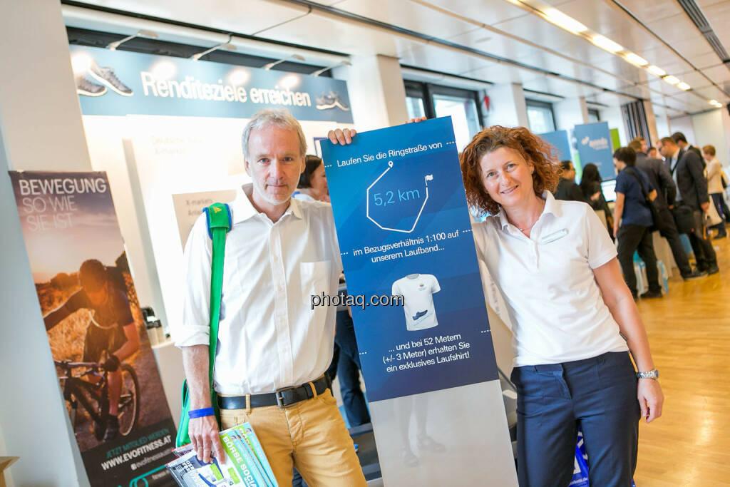 Christian Drastil (BSN), Sandra Warmuth (Deutsche Bank X-markets), Börsentag Wien, 20.5.2017, © Martina Draper photaq.com (am Ende der Diashow zusätzlich diverse Handy-Pics) (21.05.2017)