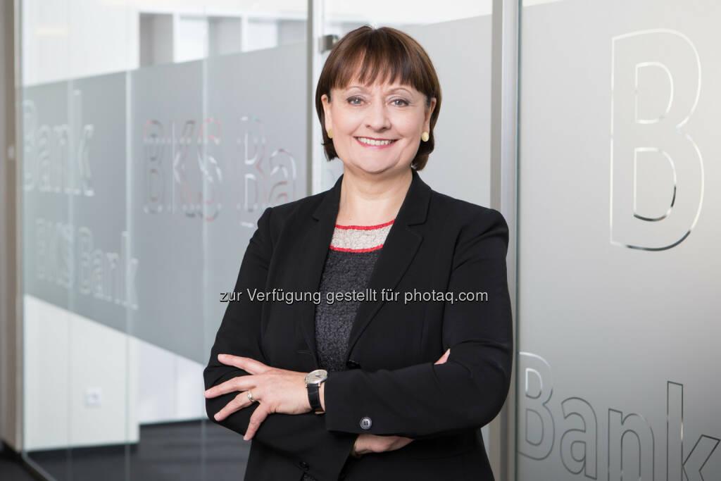 BKS Bank Vorstandsvorsitzende Stockbauer (Fotocredit: BKS Bank/Gernot Gleiss), © Aussender (26.05.2017)