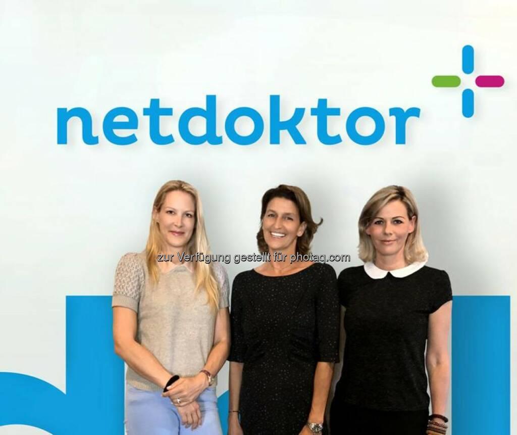 Dr. Eva Dichand, Ursula Gastinger, Barbara Konecny - AHVV Verlags GmbH: Digital-Offensive von netdoktor.at geht weiter (Fotocredit: www.netdoktor.at), © Aussender (26.05.2017)