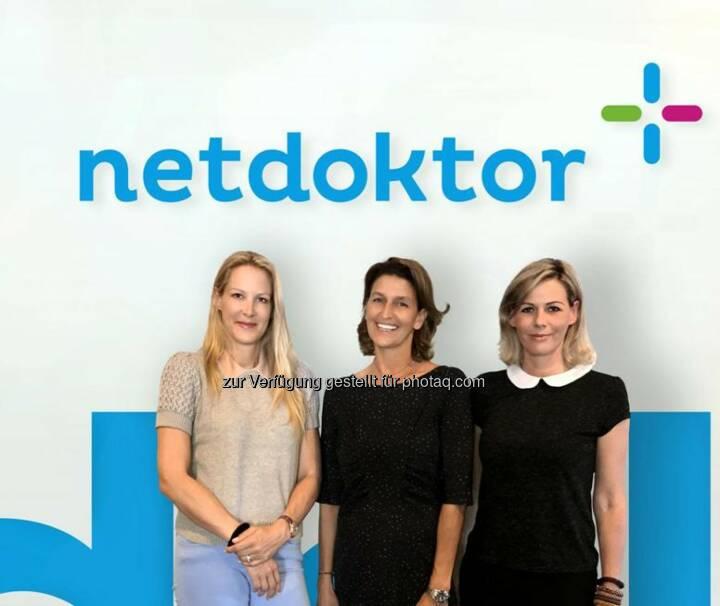 Dr. Eva Dichand, Ursula Gastinger, Barbara Konecny - AHVV Verlags GmbH: Digital-Offensive von netdoktor.at geht weiter (Fotocredit: www.netdoktor.at)