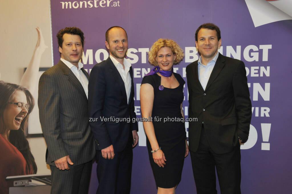 Goran Drinic (AHVV Verlag), Alexander Leitner (AHVV Verlag), Barbara Riedl-Wiesinger (Monster), Christof Hinterplattner (AHVV Verlag) (16.05.2013)