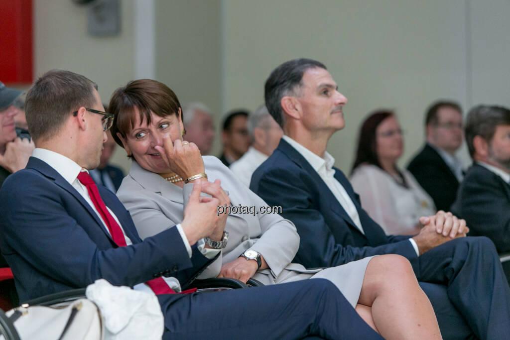 Klaus Ofner (Wienerberger), Herta Stockbauer (BKS), Peter Haidenek (Polytec), © Martina Draper/photaq (29.05.2017)
