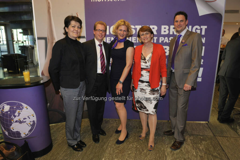 Ingrid Parth (Media4Jobs), Markus Mittermüller (Media4Jobs), Barbara Riedl-Wiesinger (Monster), Norma Karner (Media4Jobs), Thomas Berger (Monster) (16.05.2013)