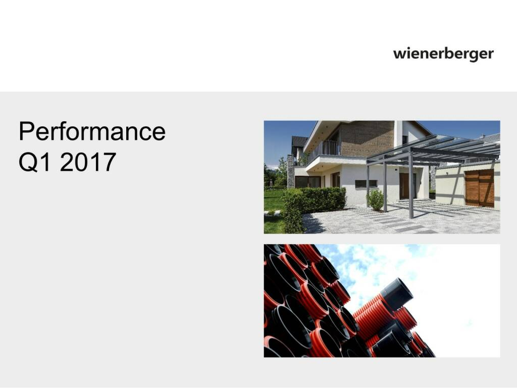 Wienerberger - Performance Q1 2017 (30.05.2017)