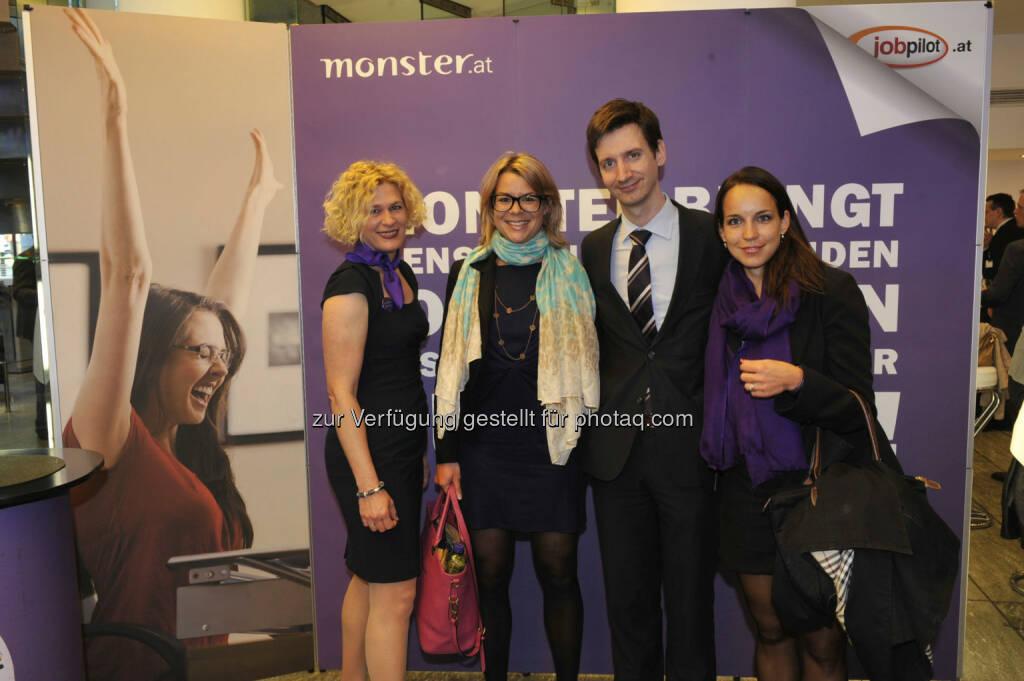Barbara Riedl-Wiesinger (Monster), Cornelia Schwaminger (Strametz und Partner),  Florian Frauscher (Bundesministerium für Wirtschaft, Familie und Jugend), Marina Kinschel (16.05.2013)