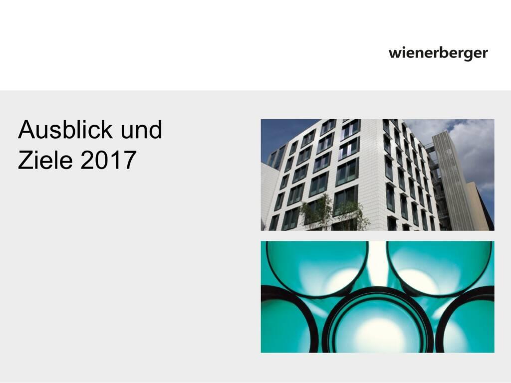 Wienerberger - Ausblick und Ziele 2017 (30.05.2017)