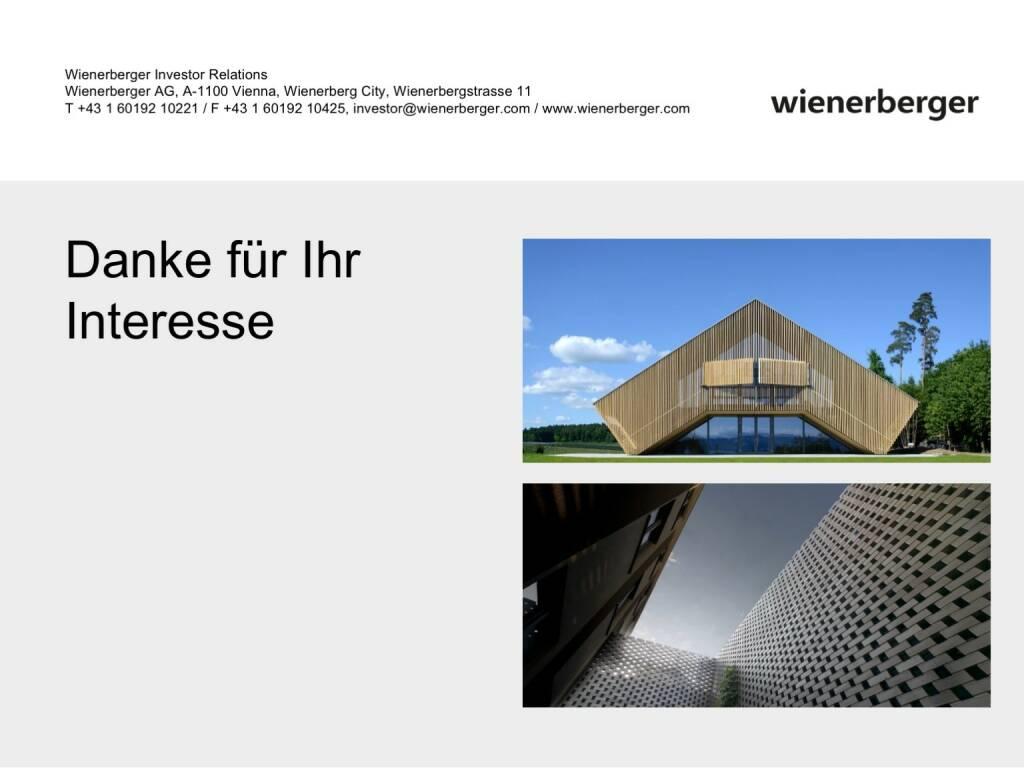 Wienerberger - Danke (30.05.2017)