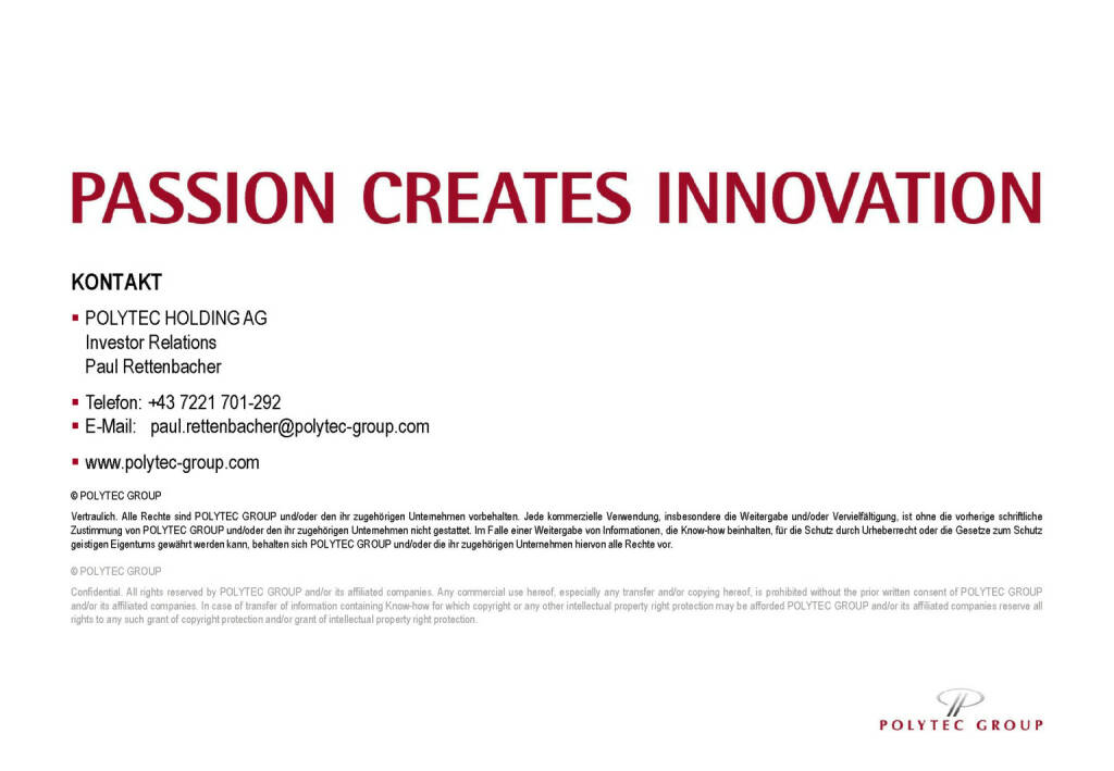 Polytec - Passion Creates Innovation (30.05.2017)
