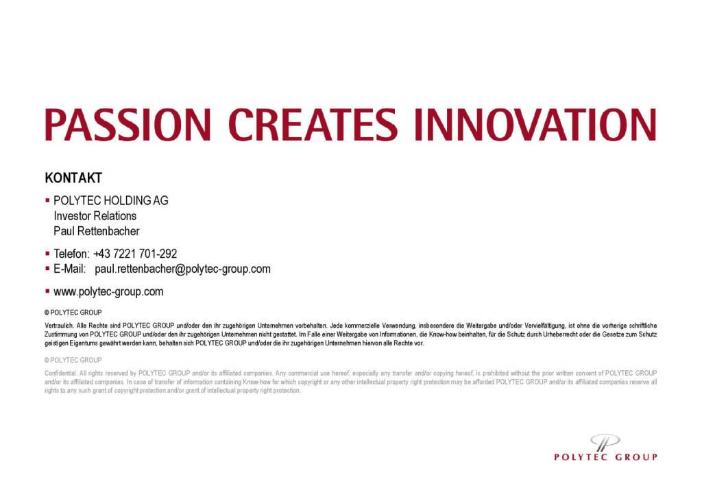 Polytec - Passion Creates Innovation (30.05.2017)