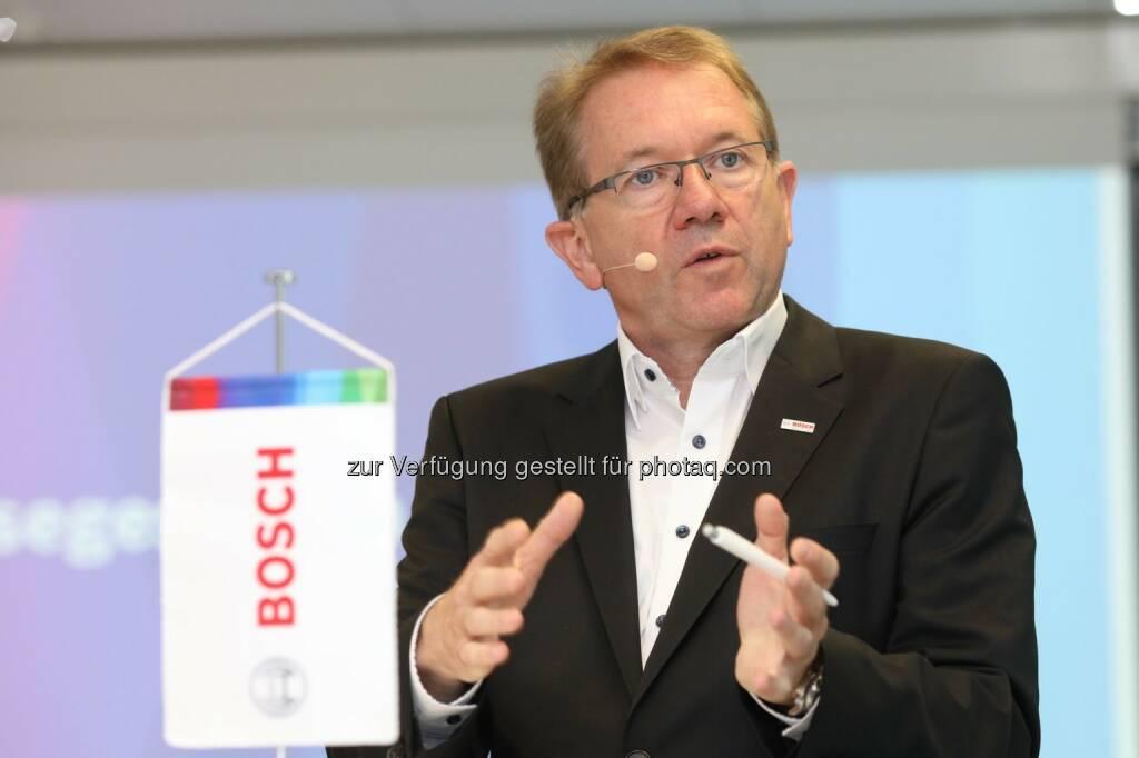 Dr. Klaus Peter Fouquet (Bosch Österreich-Chef) - Robert Bosch AG: Weiterhin gute Entwicklung von Bosch in Österreich (Fotocredit: Robert Bosch AG/APA-Fotoservice/Schedl), © Aussender (30.05.2017)