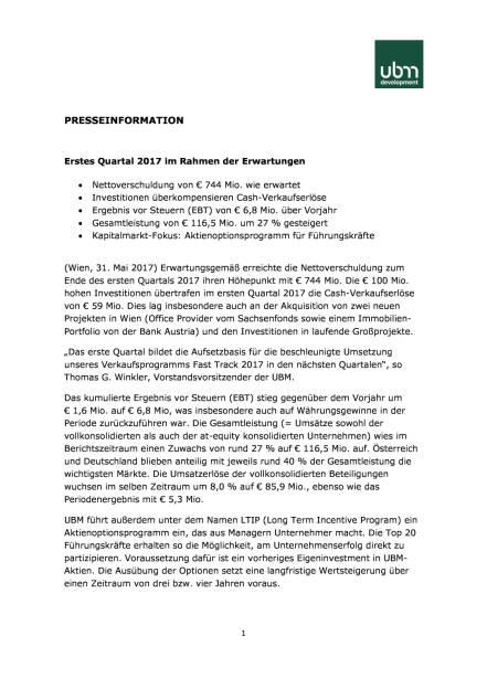 UBM Q1/2017, Seite 1/3, komplettes Dokument unter http://boerse-social.com/static/uploads/file_2270_ubm_q12017.pdf (31.05.2017)