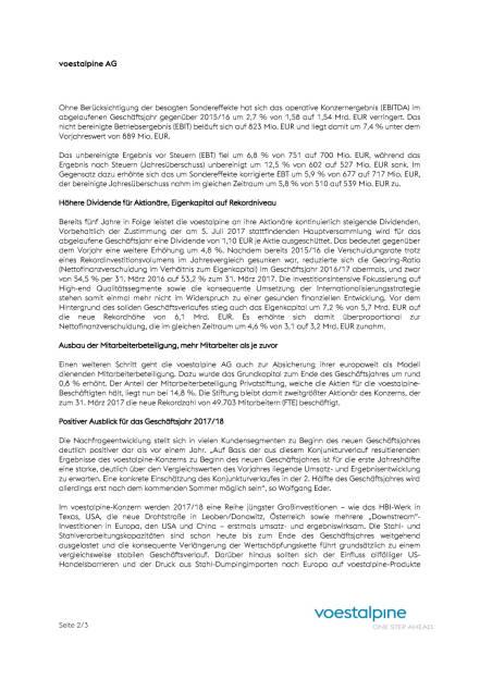 voestalpine: Q4 2016, Seite 2/3, komplettes Dokument unter http://boerse-social.com/static/uploads/file_2273_voestalpine_q4_2016.pdf (01.06.2017)