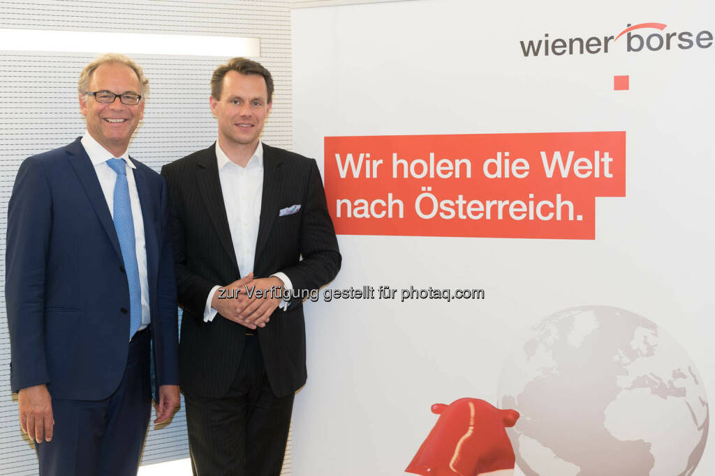 Wienerberger-CEO Heimo Scheuch, Wiener Börse-CEO Christoph Boschan (Fotocredit: APA-Fotoservice) (01.06.2017)