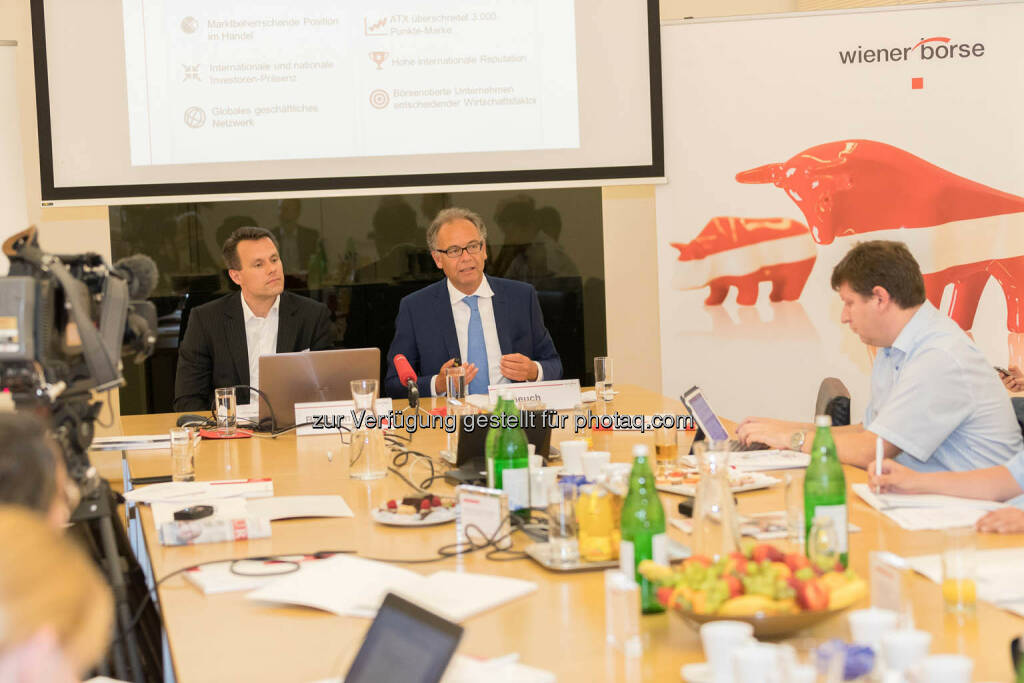 Wiener Börse-CEO Christoph Boschan, Wienerberger-CEO Heimo Scheuch (Fotocredit: APA-Fotoservice) (01.06.2017)