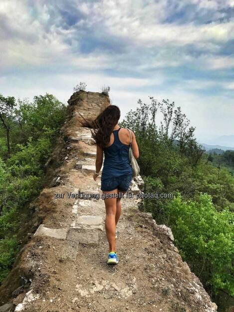 Monika Kalbacher, Chinesische Mauer, China, bergauf (01.06.2017)