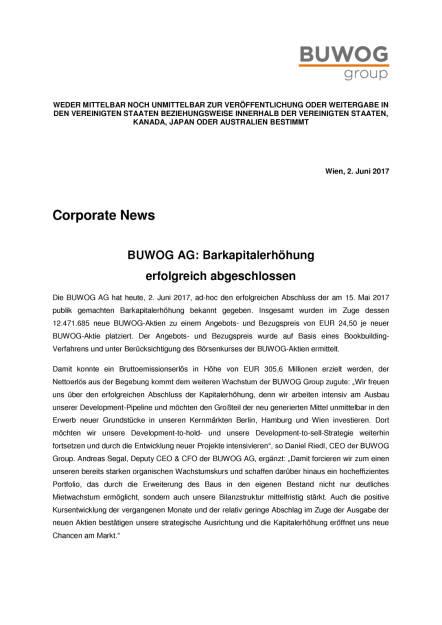 Buwog: Ergebnisse der Barkapitalerhöhung, Seite 1/2, komplettes Dokument unter http://boerse-social.com/static/uploads/file_2280_buwog_ergebnisse_der_barkapitalerhohung.pdf (02.06.2017)