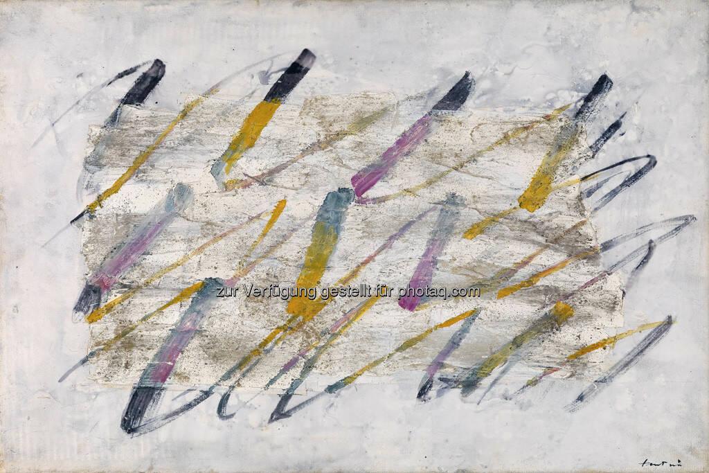 Jean Fautrier, Lignes colorées, 54 x 81 cm, erzielter Preis € 195.500, © Dorotheum  (17.05.2013)
