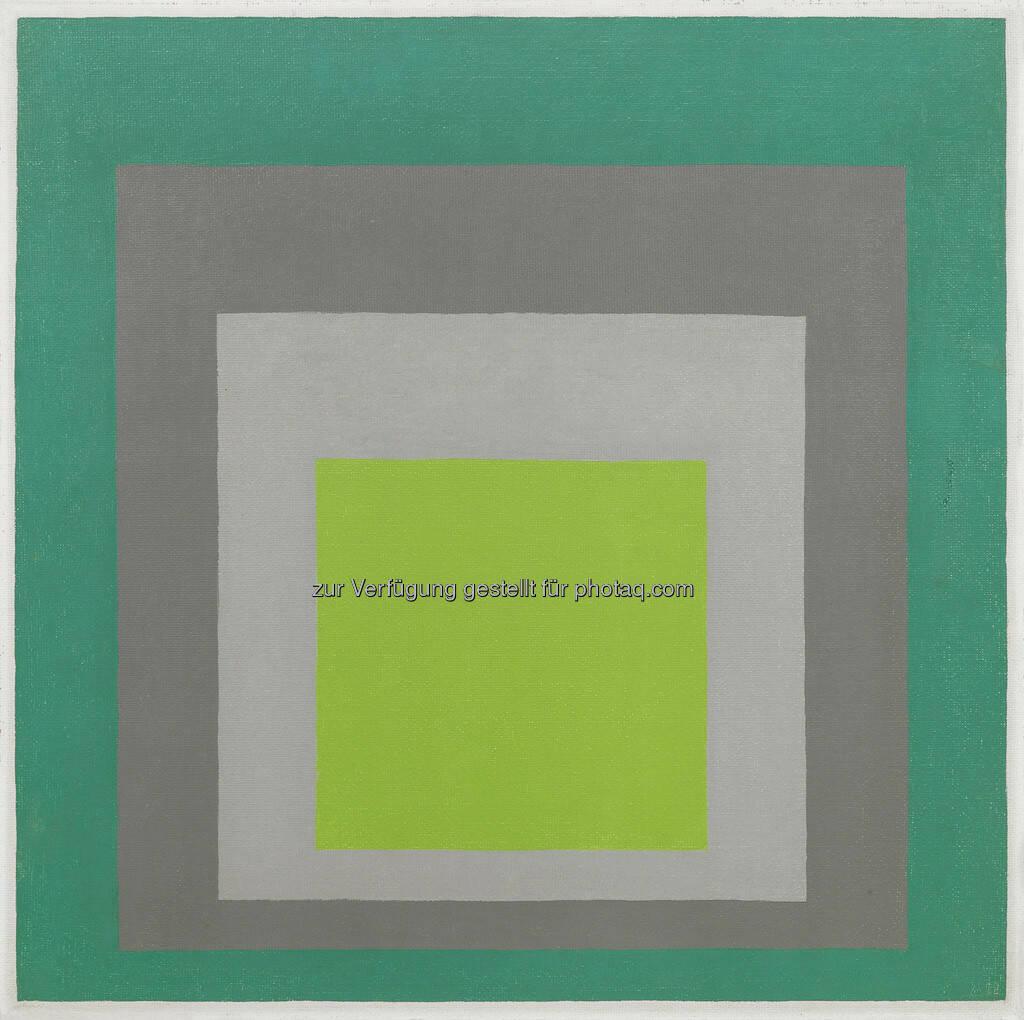 Josef Albers (1888 - 1976) Homage to the Square Spring In, 60 x 60 cm, erzielter Preis € 220.300, © Dorotheum  (17.05.2013)