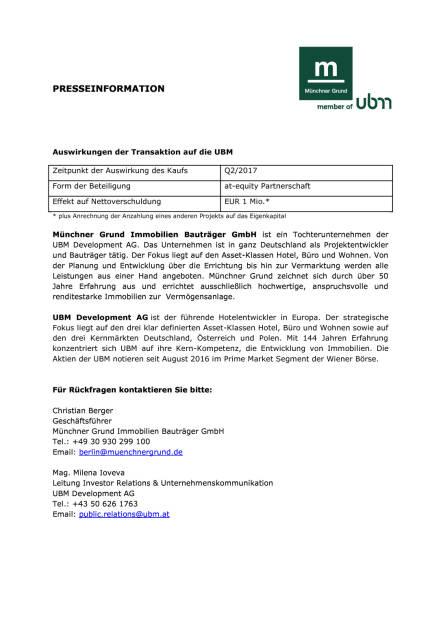 UBM-Tochter kauft Potsdamer Hauptpost mit angrenzender Entwicklungsfläche, Seite 2/2, komplettes Dokument unter http://boerse-social.com/static/uploads/file_2282_ubm-tochter_kauft_potsdamer_hauptpost_mit_angrenzender_entwicklungsflache.pdf (06.06.2017)