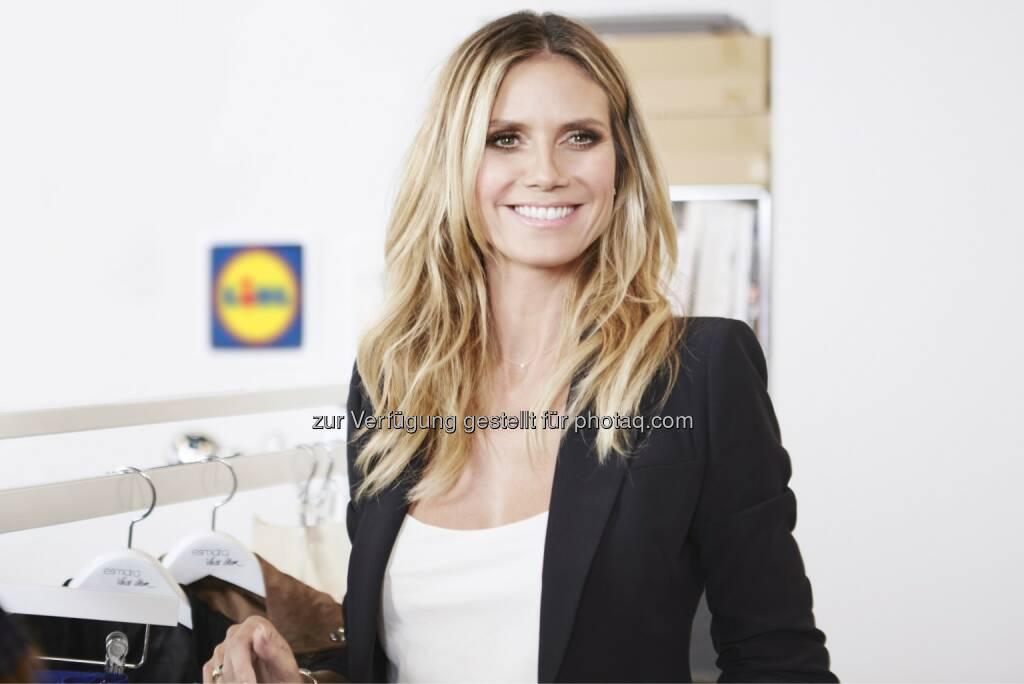 Ende des Jahres können sich Lidl-Kunden auf die exklusive Kollektion von Heidi Klum freuen - Lidl Österreich GmbH: Fashion für alle: Heidi Klum für Lidl (Fotocredit: Lidl), © Aussender (06.06.2017)
