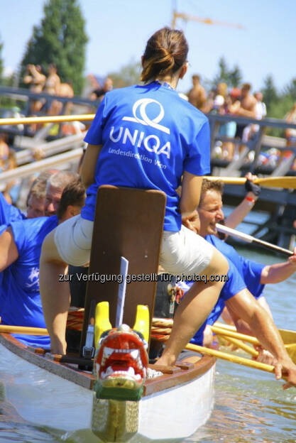 Uniqa beim Drachenboot Cup http://www.drachenboot.at/ (17.05.2013)