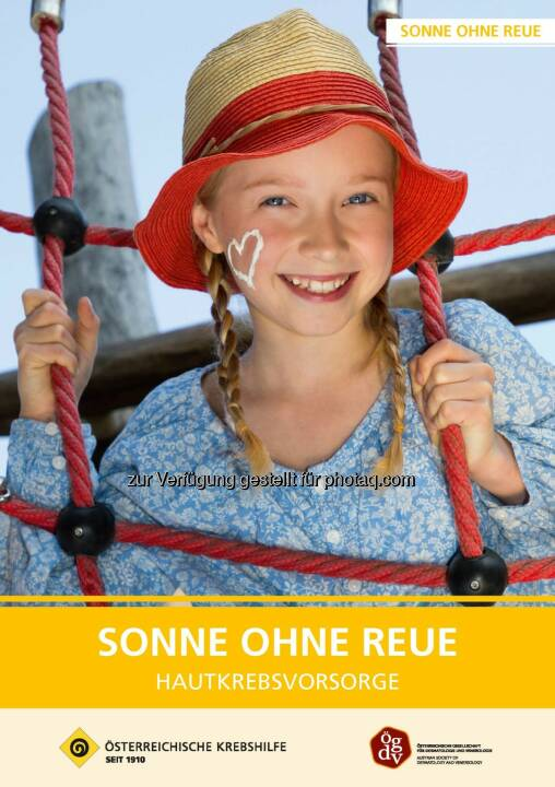 """Österreichische Krebshilfe: 30 Jahre """"Sonne ohne Reue"""" (Fotocredit: Krebshilfe)"""