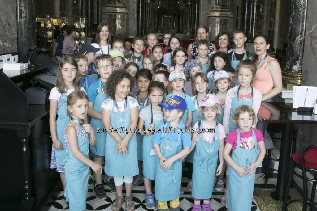 Kinder bei der Kinderkochwerkstatt im KHM Wien - GOURMET: GOURMET: Kinder, Kunst und Kochen im Kunsthistorischen Museum Wien (Fotocredit: Gourmet), © Aussender (08.06.2017)